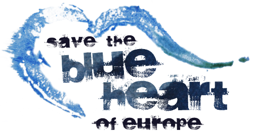 Logo Save the blue heart of Europe