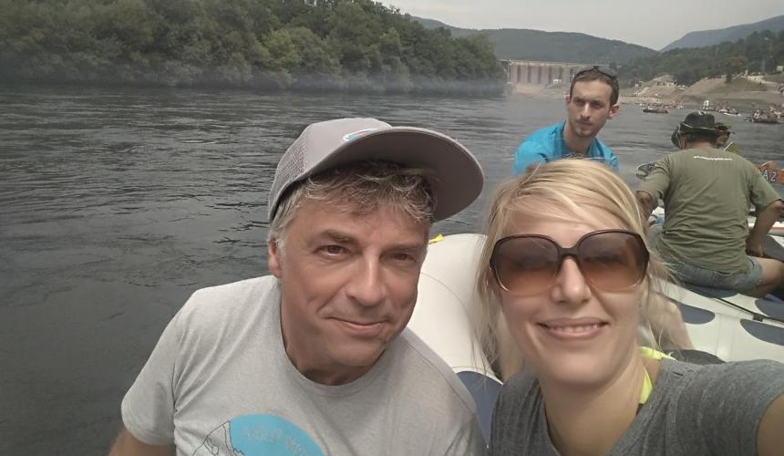 Ulrich Eichelmann and Cornelia Wieser from Riverwatch © Cornelia Wieser/Riverwatch