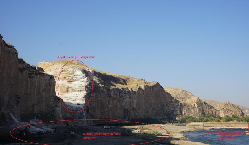 Zerstörung im Gange © Initiative to Keep Hasankeyf Alive