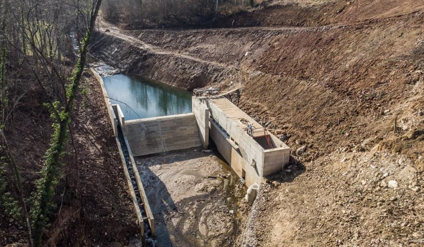 Example of the reality of small hydro, the MHE Ravni na Pristavaci close to Užice/Serbia © Amel Emric