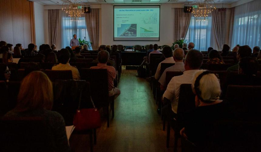 At the International Wild Rivers Science Symposium in Tirana on October 18th, 2019 © Becky Holladay