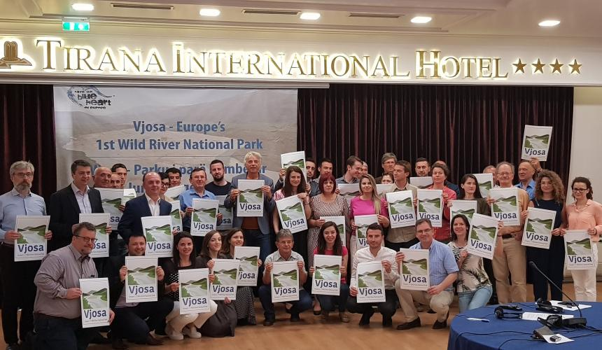 At the official presentation of our vision for the future of the Vjosa – Europe's first Wild River National Park – on June 6th (Vjosa Day) © Ogerta Ujkashi