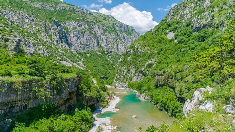 The Morača in Montenegro is one of the last refuges for endangered fish species. However, the river is threatened by multiple hydropower projects. © Shutterstock/Sergey Lyashen