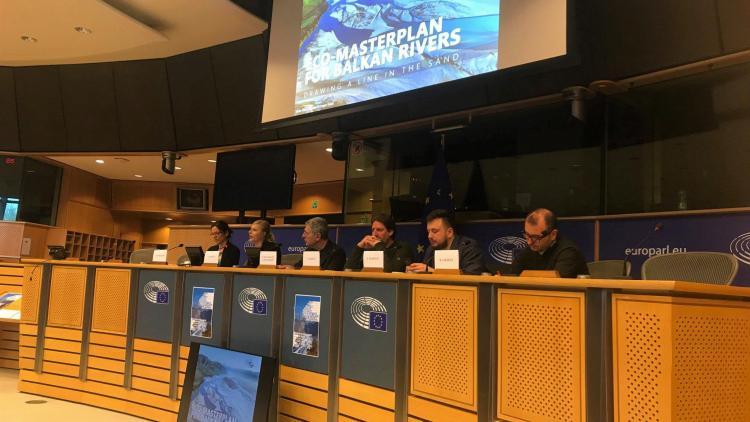 Der Öko-Masterplan für Balkanflüsse präsentiert im Europäischen Parlament © Vasileios Katsardis
