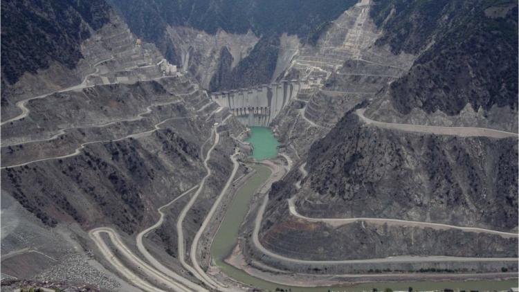 Staudammbau an türkischer Schwarzmeerküste. Foto: Dogadernegi