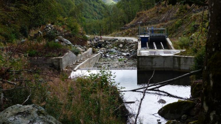 Intake of the Tearce 97 (Bistrica 97) hydropower plant deep in the Shar Mountain, nominated Emerald site. © Andrey Ralev