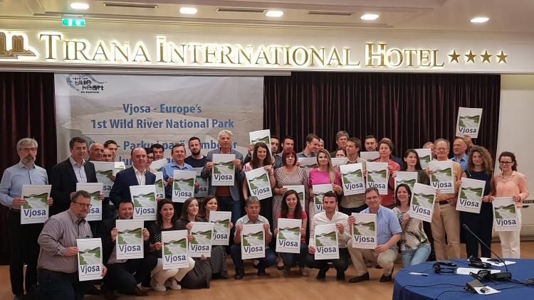 Bei der offiziellen Präsentation unserer Vision für die Zukunft der Vjosa – Europas erster Wildfluss-Nationalpark © Ogerta Ujkashi
