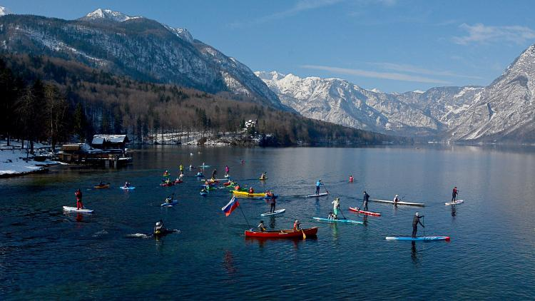 Location of the opening event: Lake Bohinj © Peter Koren