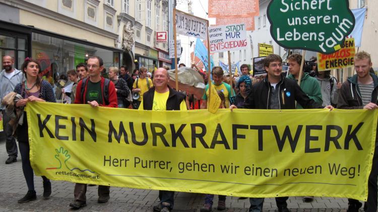 Rettet die Mur Demo. Foto: Rainer Mörth
