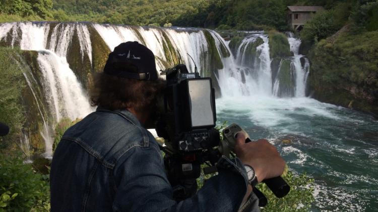 Dreharbeiten an der Una in Bosnien-Herzegowina © Ulrich Eichelmann