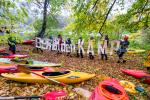 With an unusual action on the 21st of October 2017, Riverwatch and kayakers from the Kamp valley in Lower Austria demand the removal of the dam in Rosenburg. © Peter  Faschingleitner
