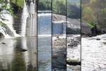 Photomontage of the four phases of the Inturia dam removal works 2013 - 2016 © Basque Water Agency
