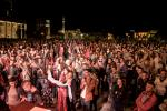 About 4000 people attended the Vjosa concert at the main square in Tirana © Moris Rama