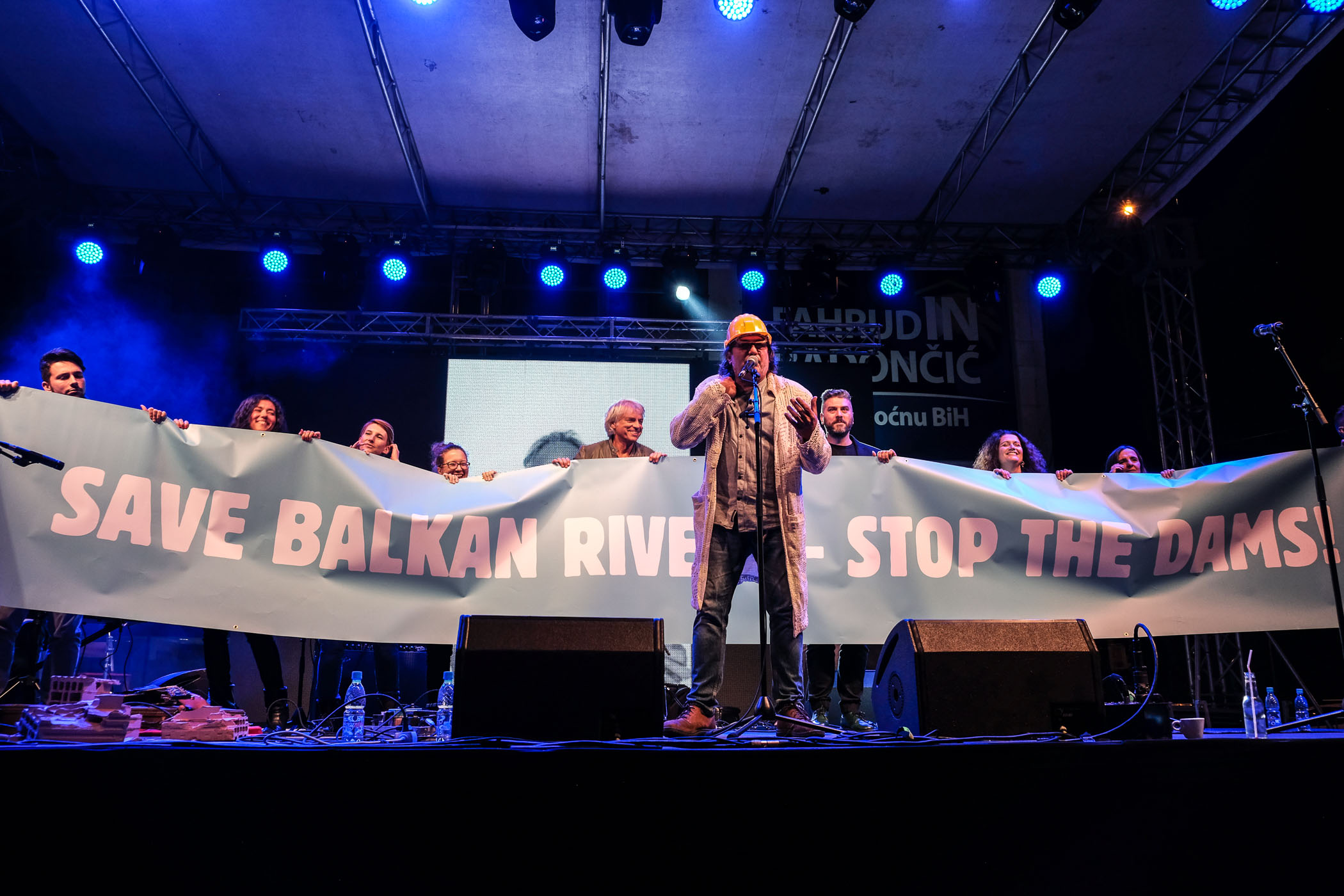 """The concert was held under the slogan """"Save Balkan Rivers – Stop the Dams"""" © Nick St. Oegger"""