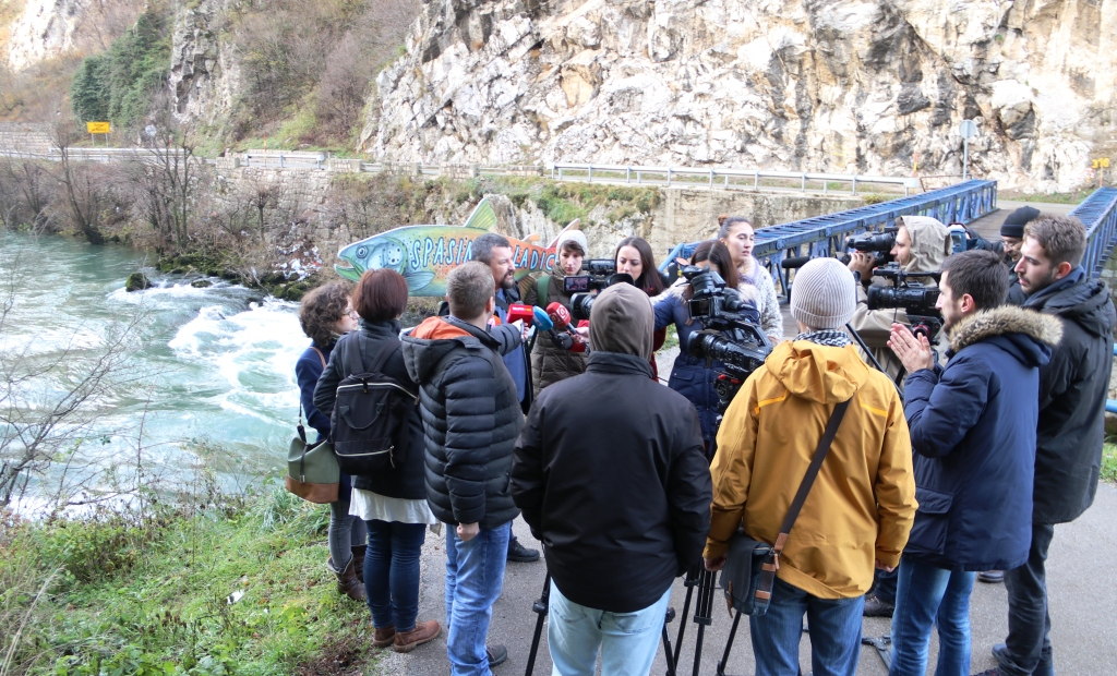 Residents do not want the projected HPP on the Vrbas and fear for their drinking water © Center for Environment