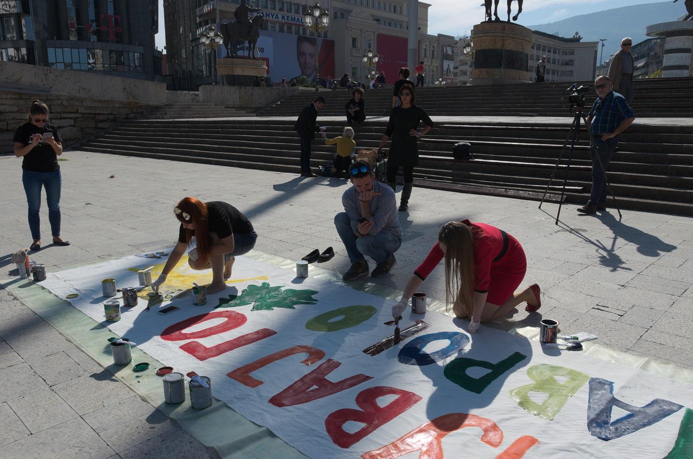 Aktivisten bei der Arbeit © Eko-svest