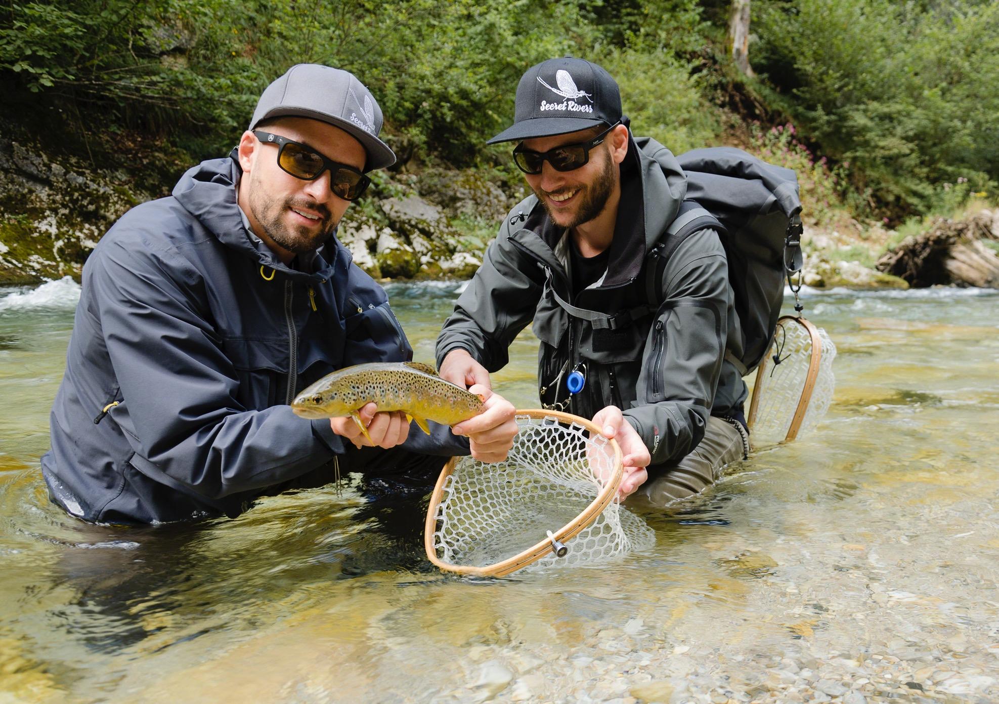 Das Organisationsteam des Festivals in Österreich und der Schweiz: Sebastian Bremm und Thomas Schatzmann von Secret Rivers Fly Fishing © Miriam Mehlman