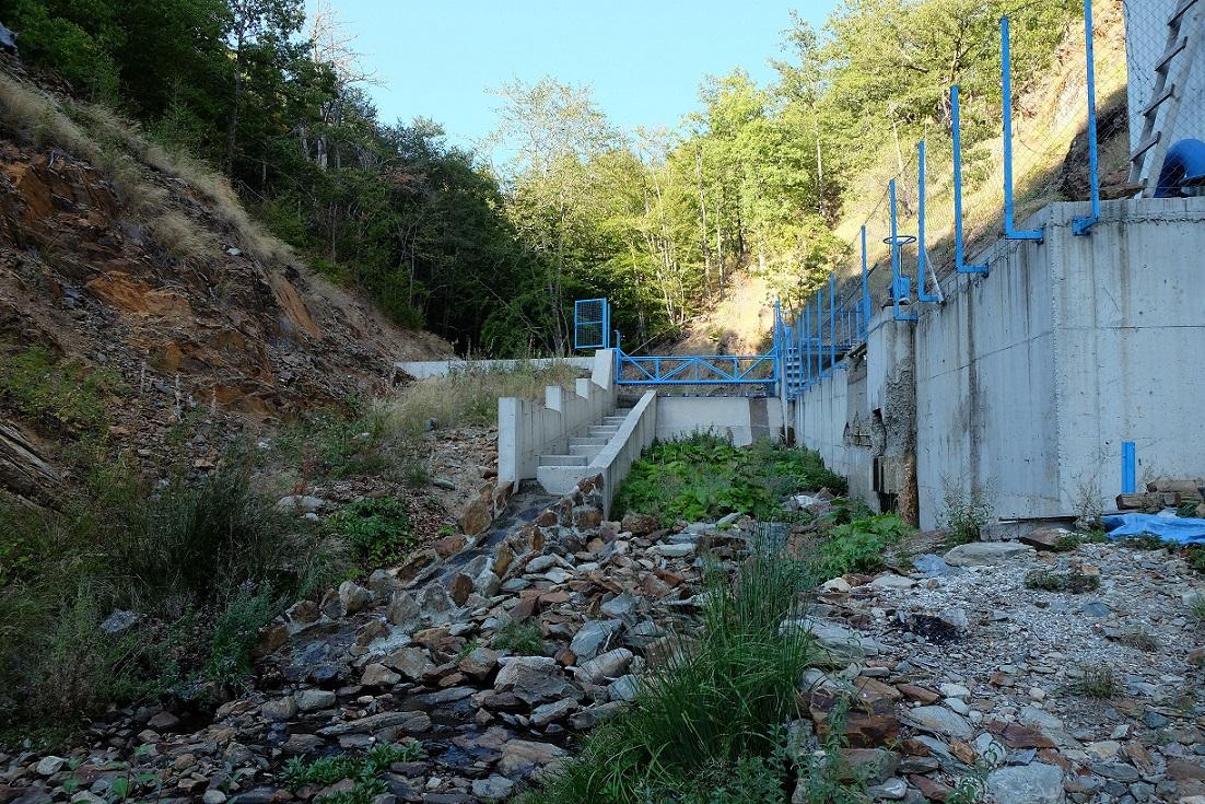 The hydropower plant Brajcinska reka 1 was financed by EBRD. This plant destroys one of the last populations of Prespa trout. © Igor Vejnović