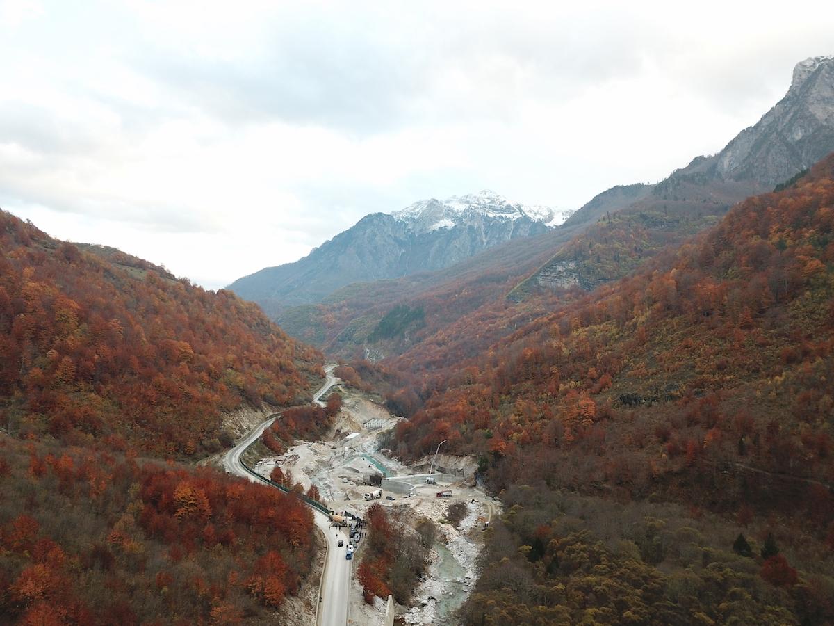 Construction site in Valbona National Park, Albania. Photo: Mirjan Aliaj