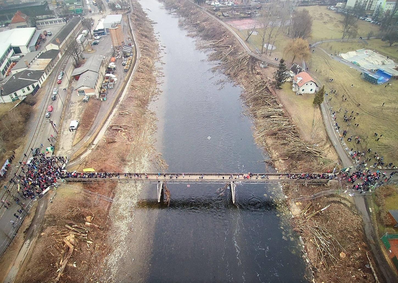 This is how the banks of the Mur look after the tree massacre in Graz last week. © Rettet die Mur
