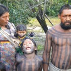 Familie der Xikrin-Kayapo