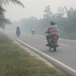 In addition to dry and rainy season a third season came to exist in Indonesia: the burning season. In October, smoke is omnipresent.  Photo: Ulrich Eichelmann
