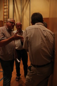 Umweltexperten diskutieren mit Projektwerber Peter Masser