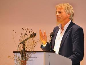 Dankensrede von Preisträger Ulrich Eichelmann. Foto: Klaus Schädler