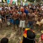 Entschiedener Widerstand: Mundurukú wehren sich gegen den Staudamm (Foto: Mayra Galha)
