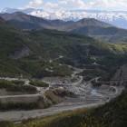 """Das österreichische Unternehmen ENSO Hydro baut mit Geldern der Weltbank und aus Österreich ein Wasserkraftwerk im albanischen Nationalpark """" Bredhi i Hotovës """" © Roland Tasho"""