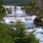 At risk: Štrbački Buk, the famous waterfall on the Una River, some 20 km downstream of Martin Brod. Photo: Paola Lucchesi