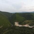 1.Das Medna Projekt an der Sana, von dem Energieunternehmen Kelag gebaut, zerstört bedrohtes Huchengebiet. Foto: Za vode Podgorice