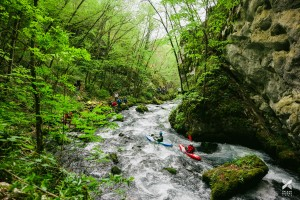 Day 8 of the Balkan Rivers Tour: this is where the kayaker started paddling today and went through the KELAG construction further downstream © Jan Pirnat