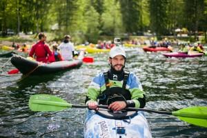 Ehemaliger Olympioniken Rok Rozman, Leitet die Balkan Rivers Tour © Jan Pirnat