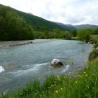 The river Radika in the Mavrovo National Park would be affected by the water drainage and daily hydropeaking of the hydropower plant Boskov Most © Theresa Schiller/EuroNatur