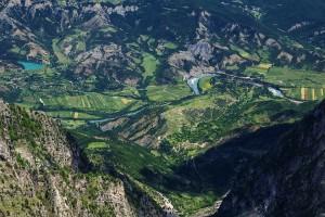 Das Blauen Herz Europas von einer hohen Perspektive. © Marko Prezelj
