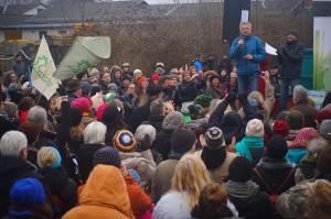Riverwatch Geschäftsführer Ulrich Eichelmann unterstützt den Mur-Protest. (c) Rettet die Mur
